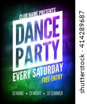 dance party poster template.... | Shutterstock .eps vector #414289687