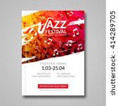 Vector Musical Flyer Jazz...