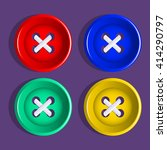 buttons. multi colored plastic... | Shutterstock .eps vector #414290797
