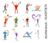 olympic sports set. kinds of... | Shutterstock .eps vector #414297874