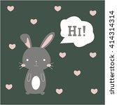 cute bunny icon | Shutterstock . vector #414314314