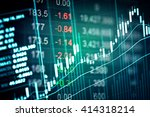 financial data on a monitor.... | Shutterstock . vector #414318214