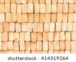 stack of red brick texture... | Shutterstock . vector #414319264