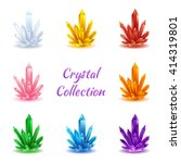 set of magic crystals. crystals ... | Shutterstock .eps vector #414319801