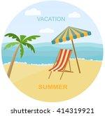 sea landscape summer beach ... | Shutterstock .eps vector #414319921