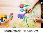 children's hands mold from... | Shutterstock . vector #414323995