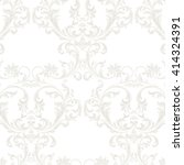 vector baroque vintage floral... | Shutterstock .eps vector #414324391