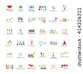 children icons set vector... | Shutterstock .eps vector #414326311
