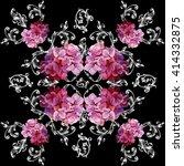 seamless pattern in baroque... | Shutterstock . vector #414332875
