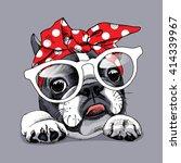 french bulldog portrait in a... | Shutterstock .eps vector #414339967