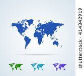 vector set from colorful world... | Shutterstock .eps vector #414342919