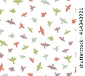 birds seamless pattern. color... | Shutterstock .eps vector #414343921