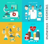flat medicine icon set with... | Shutterstock .eps vector #414345361