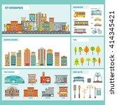 city buildings infographics... | Shutterstock .eps vector #414345421