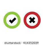 approve and cancel vector icon | Shutterstock .eps vector #414352039