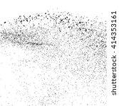 black grainy texture isolated... | Shutterstock .eps vector #414353161
