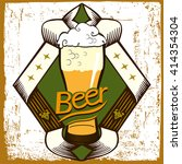 beer label design with  frame... | Shutterstock .eps vector #414354304