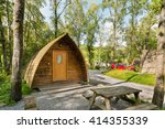 wooden log cabin also know as... | Shutterstock . vector #414355339