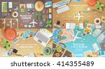 flat vector web banners set on... | Shutterstock .eps vector #414355489