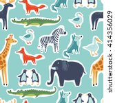 vector seamless pattern of... | Shutterstock .eps vector #414356029
