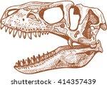 tyrannosaurus skull   Shutterstock .eps vector #414357439