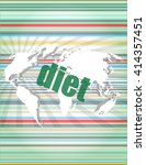 diet word on digital touch... | Shutterstock .eps vector #414357451