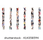 team over white many colleagues  | Shutterstock . vector #414358594