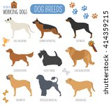 dog breeds. working  watching ... | Shutterstock .eps vector #414359215