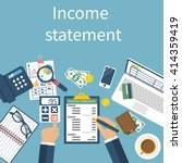 income statement report.... | Shutterstock .eps vector #414359419