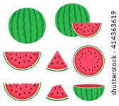 fresh and juicy whole... | Shutterstock .eps vector #414363619