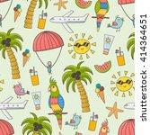summer time seamless pattern.... | Shutterstock .eps vector #414364651