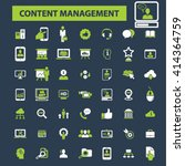 content management icons  | Shutterstock .eps vector #414364759