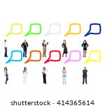 standing and talking common... | Shutterstock . vector #414365614