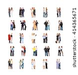 united company many colleagues  | Shutterstock . vector #414365671