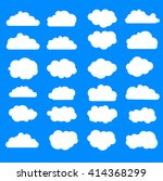simple sky cloud icon set | Shutterstock .eps vector #414368299
