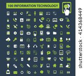 information technology icons  | Shutterstock .eps vector #414368449