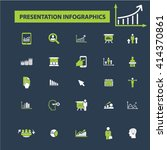presentation infographics icons  | Shutterstock .eps vector #414370861