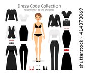 women dress code set. woman...