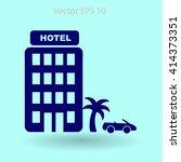 hotel vector illustration | Shutterstock .eps vector #414373351