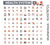 health system icons  | Shutterstock .eps vector #414378721