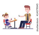 teacher or home tutor studying... | Shutterstock .eps vector #414379045