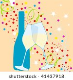 illustration of elegant new... | Shutterstock . vector #41437918