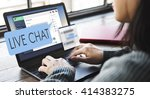live chat chatting... | Shutterstock . vector #414383275
