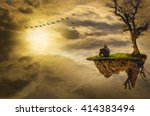 loneliness  illustration of a... | Shutterstock . vector #414383494