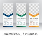 roll up banner stand template... | Shutterstock .eps vector #414383551