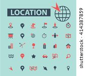 location icons  | Shutterstock .eps vector #414387859