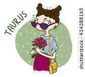 zodiac signs taurus. vector... | Shutterstock .eps vector #414388165