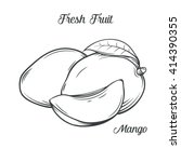 hand drawn mango icon. vector... | Shutterstock .eps vector #414390355