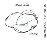 hand drawn mango icon. vector... | Shutterstock .eps vector #414390355