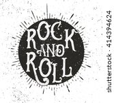 monochrome rock music print ... | Shutterstock .eps vector #414394624